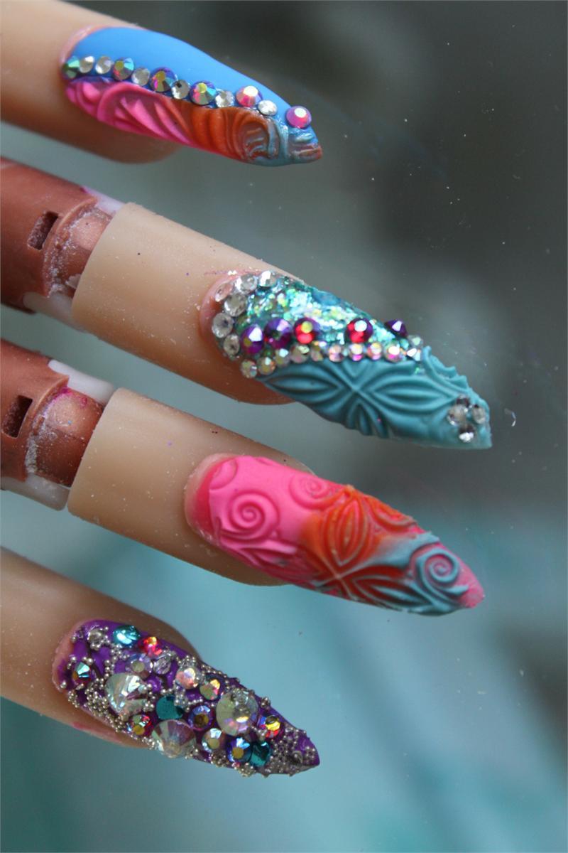 3-D Nail Art Impressions-Swirls