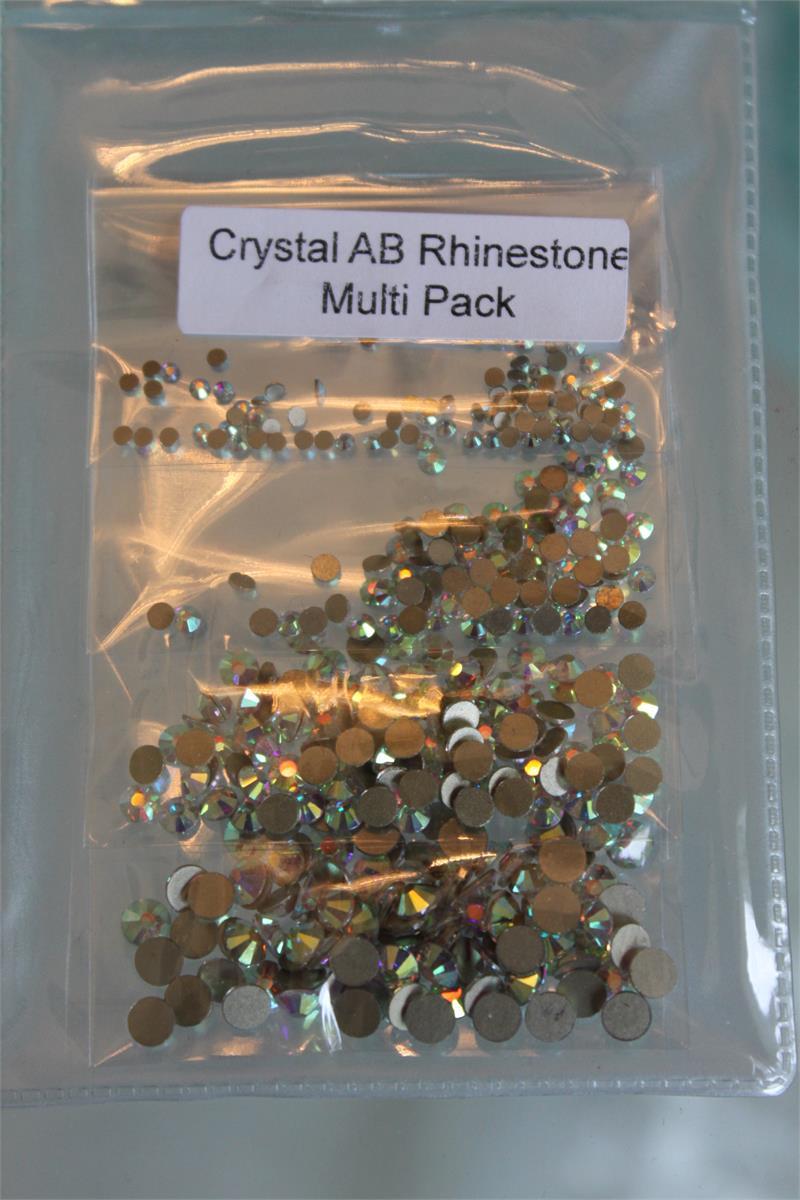 Multi-Pack 400pcs. Super Quality Rhinestones Crystal AB