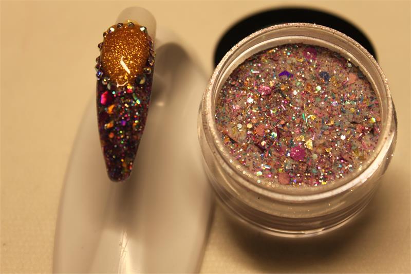 Nail Art Acrylics Mix- Purple Party Time 1/2 oz.