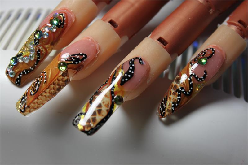 Nail art design paper snake pattern prinsesfo Images