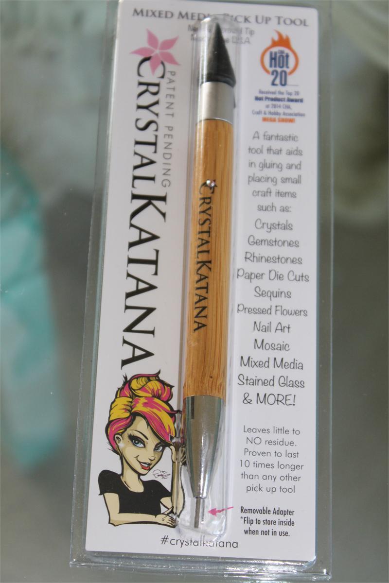 Crystal Katana-Rhinestones Pick Up Tool !