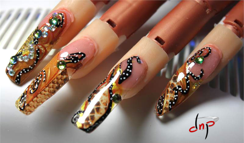 Nail Art using  Designer Nail Products Nail Artistry Drawing Tools