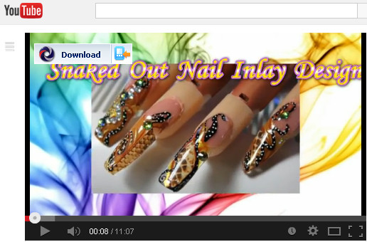 YOUTUBE-SNAKED OUT NAIL INLAY DESIGN