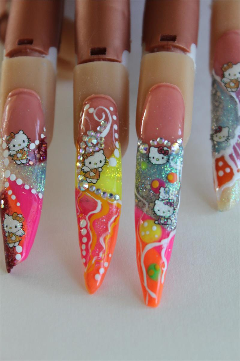 - Color Nail Art Acrylics And Glitters-Neon Color